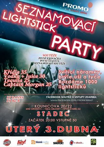 Seznamovaci Lightstick Party Poster